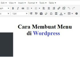 Cara membuat menu di wordpress
