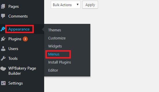Teknik Membuat Menu di WordPress