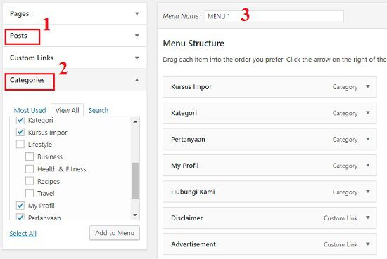 Trik Membuat Tombol Menu di WordPress 2018