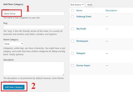 Trik Membuat Tombol Menu di WordPress